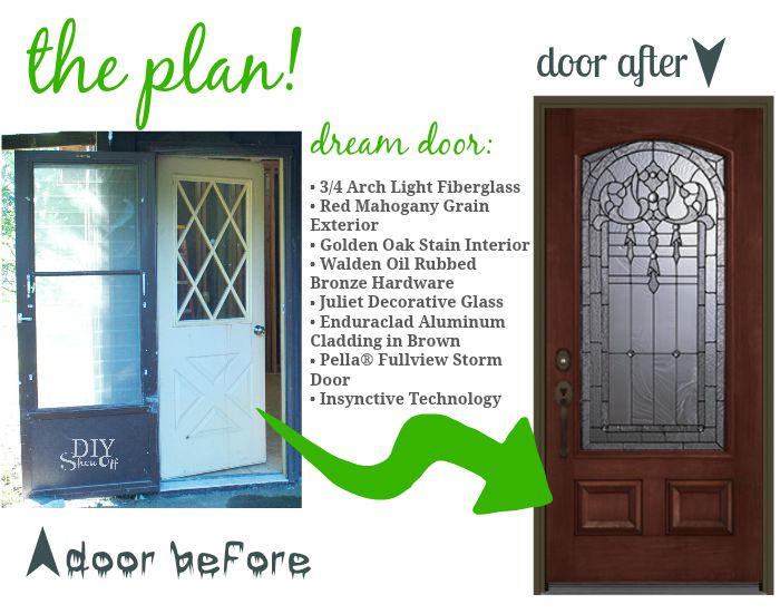 house makeover dream door - the plan