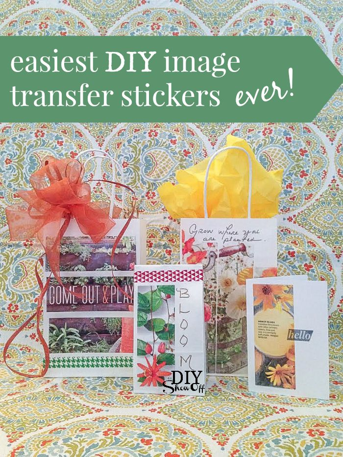 easiest DIY image transfer stickers ever! @diyshowoff #MadeWithMichaels