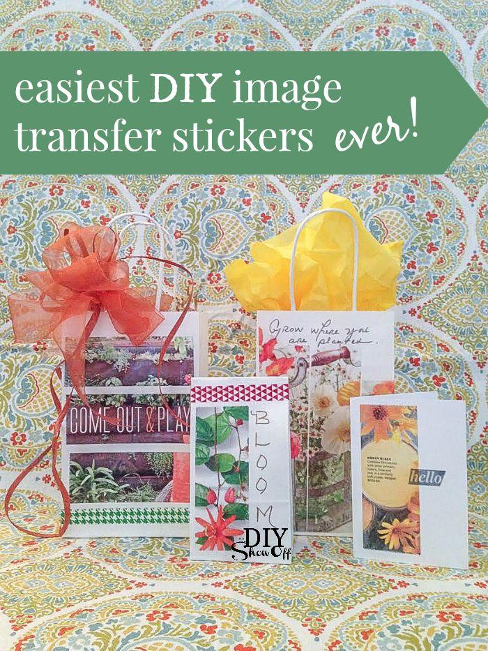 easiest DIY image transfer stickers ever! @diyshowoff #MadeWithMichaels