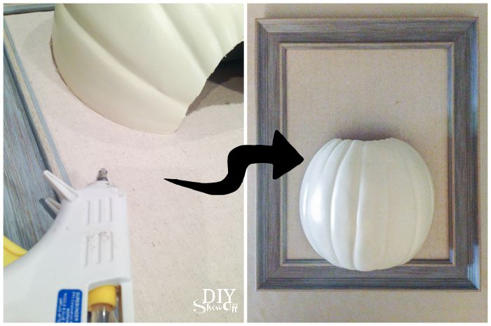 3D framed DIY pumpkin wall art tutorial @diyshowoff #michaelsmakers
