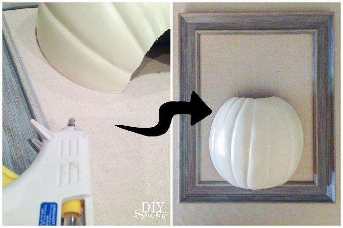 3D framed DIY pumpkin wall art tutorial @diyshowoff #michaelsmakers