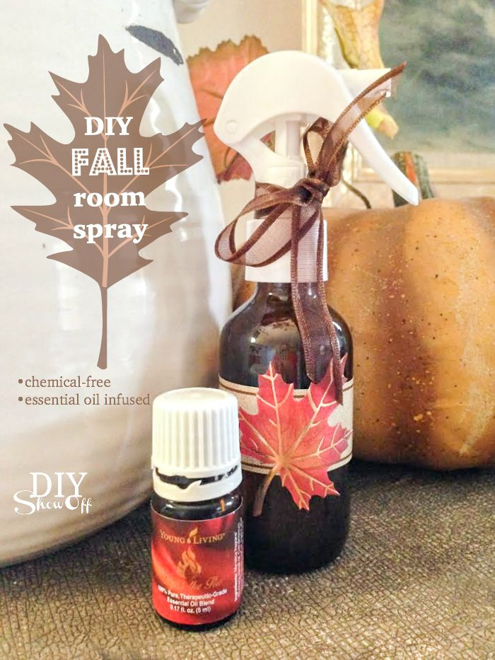 a DIY essential oil infused fall room spray recipe that's chemical free and smells amazing! @diyshowoff
