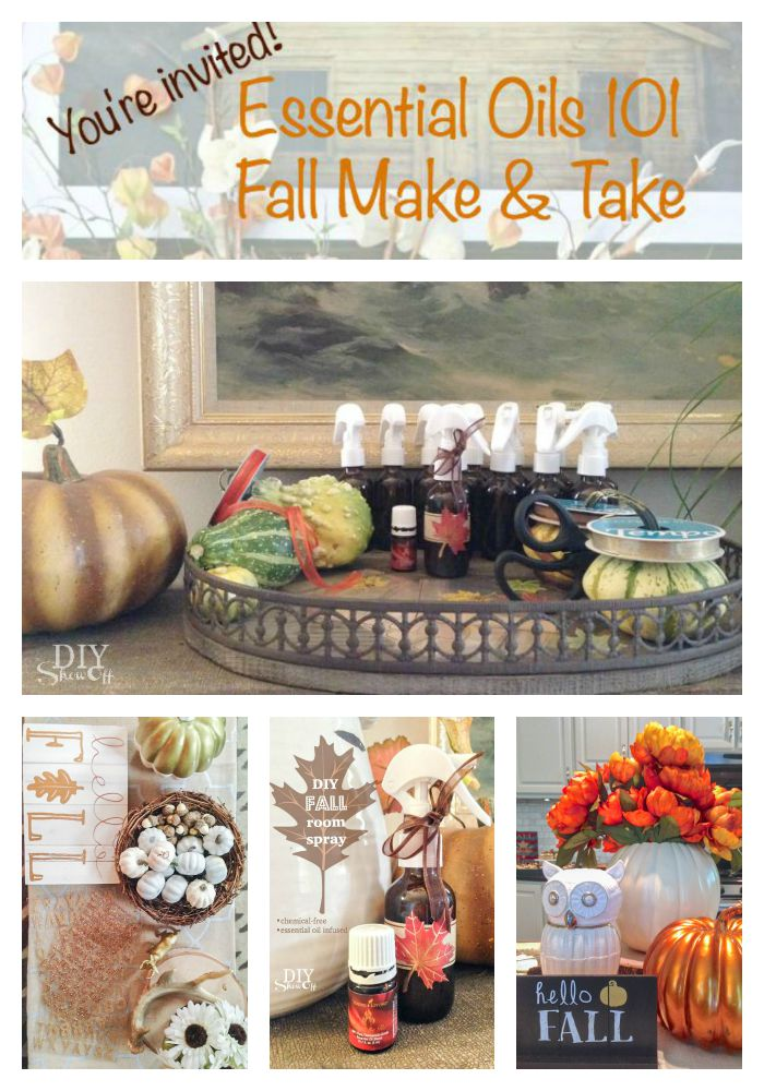 Fall Essential Oils Make & Take Ideas Part 1 @diyshowoff