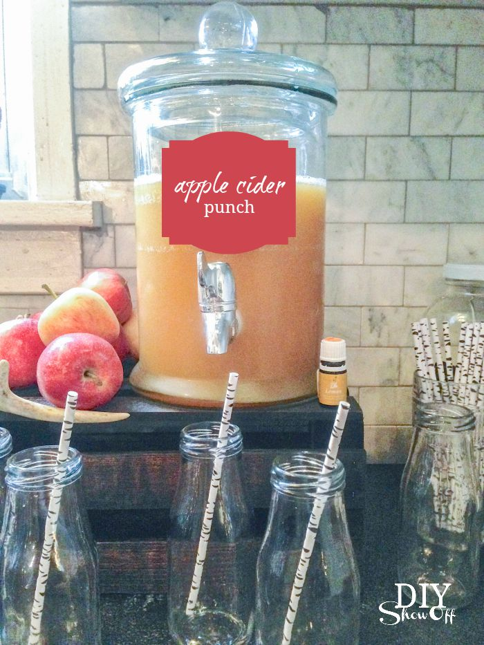 apple cider punch recipe fall make & take ideas @diyshowoff