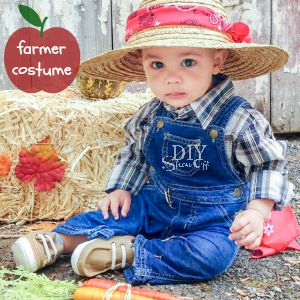 cutest baby farmer DIY costume @diyshowoff