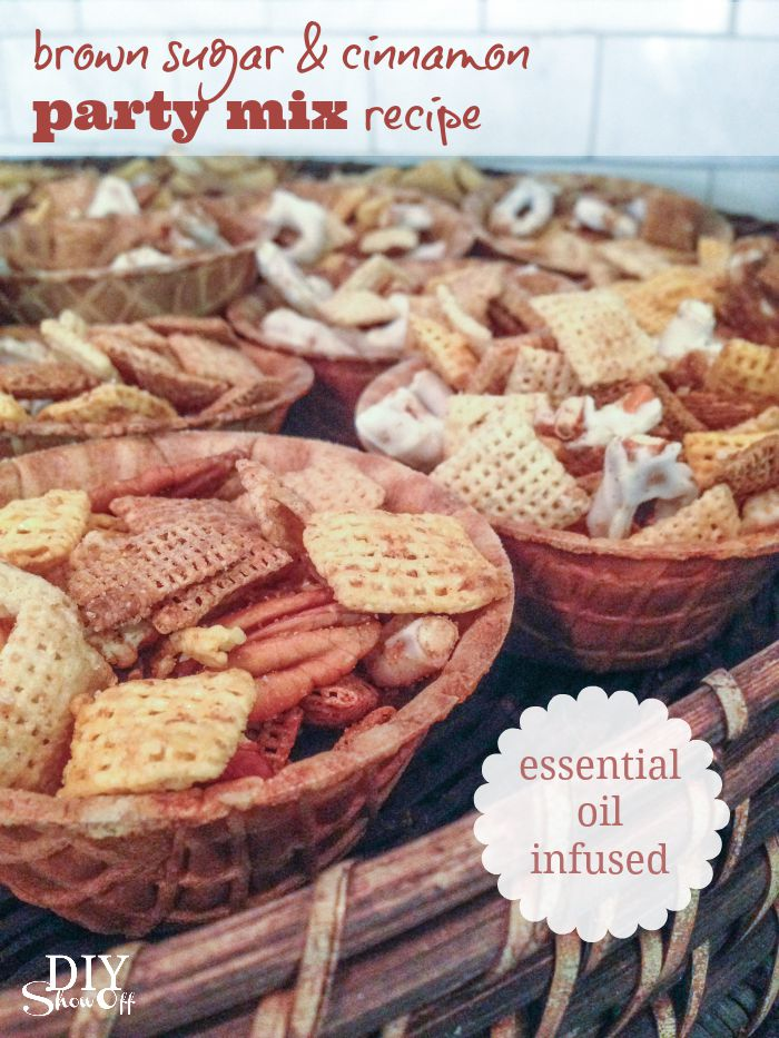 Fall essential oil infused party snack ideasdiy show off diy brown sugar and cinnamon fall party mix recipe diyshowoff essentialoils forumfinder Image collections