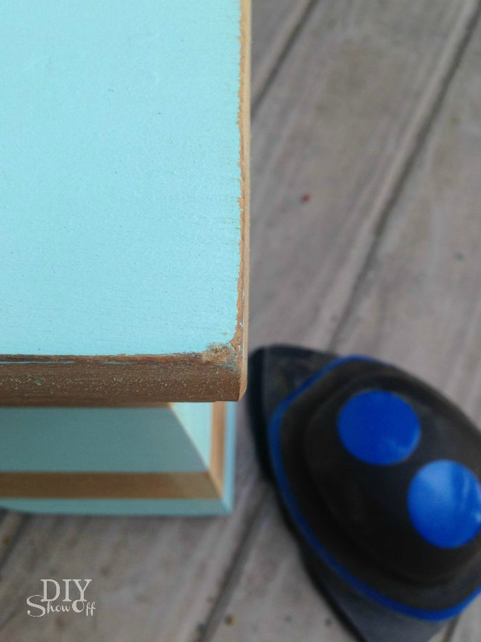 flea market step stool makeover @diyshowoff