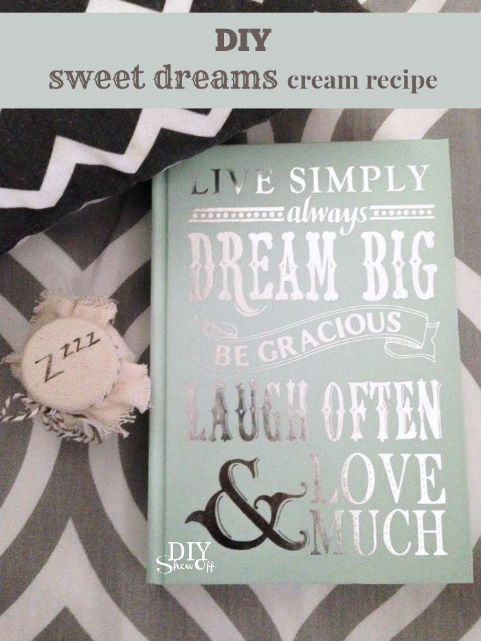 DIY sleepy time gift idea / sweet dreams cream @diyshowoff #youngliving #essential oils