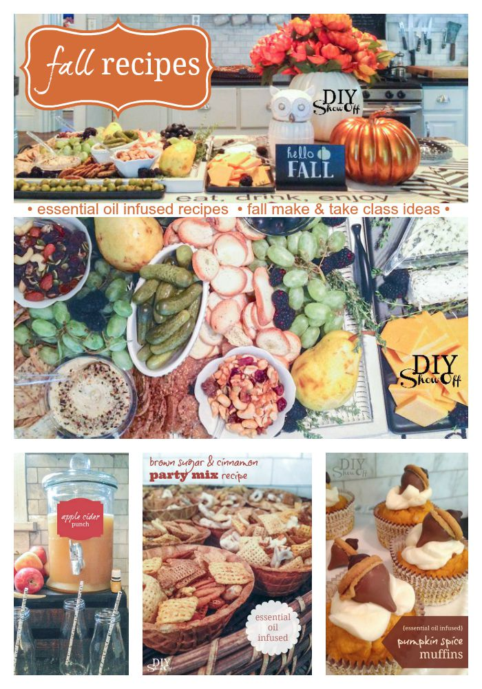 fall recipes - essential oil infused make & take class ideas Part 2 @diyshowoff