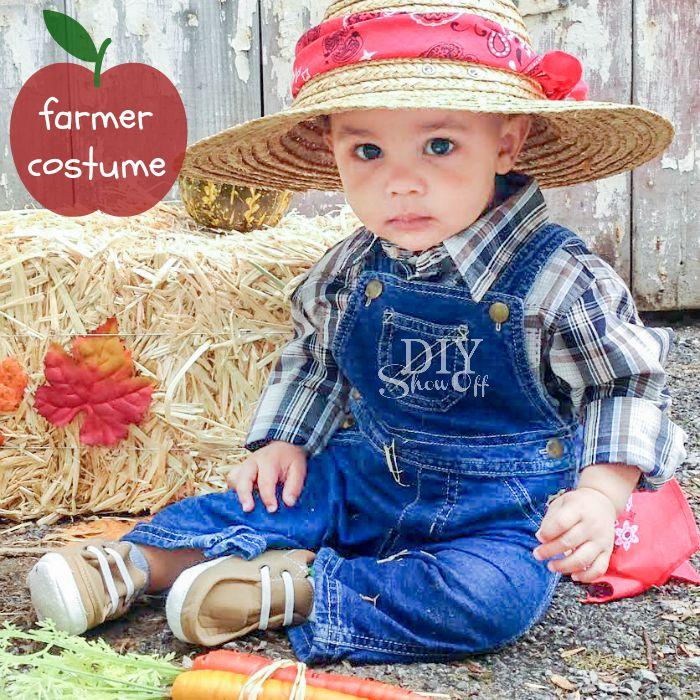 cutest baby farmer DIY costume @diyshowoff