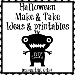 Halloween essential oils Make & Take ideas, graphics and printables @diyshowoff