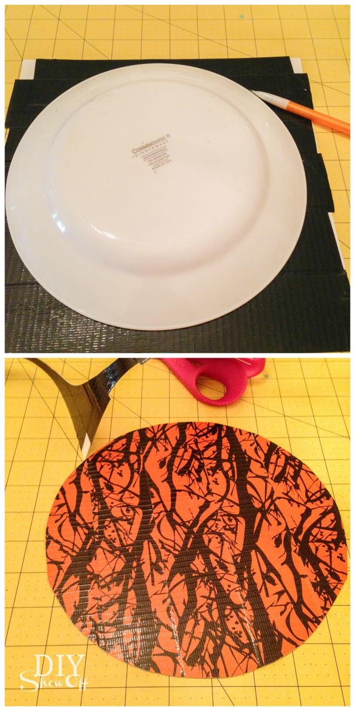DuckTape Trick or Treat bucket tutorial @diyshowoff  #halloween