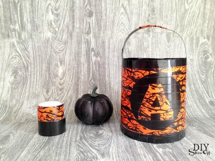 DuckTape trick or treat bucket tutorial #halloween @diyshowoff #spookduckular