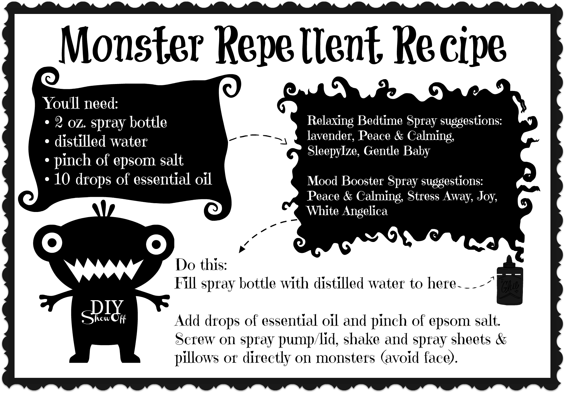 Halloween essential oils Make & Take ideas, graphics and printables @diyshowoff