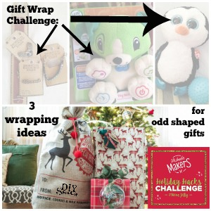 #michaelsmakers #makejolly Holiday Hacks @diyshowoff gift wrapping odd shaped objects