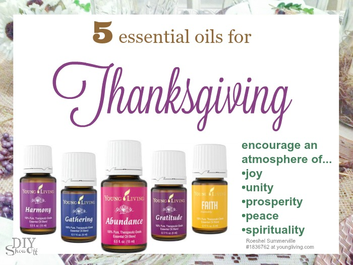 5 essential oils for Thanksgiving