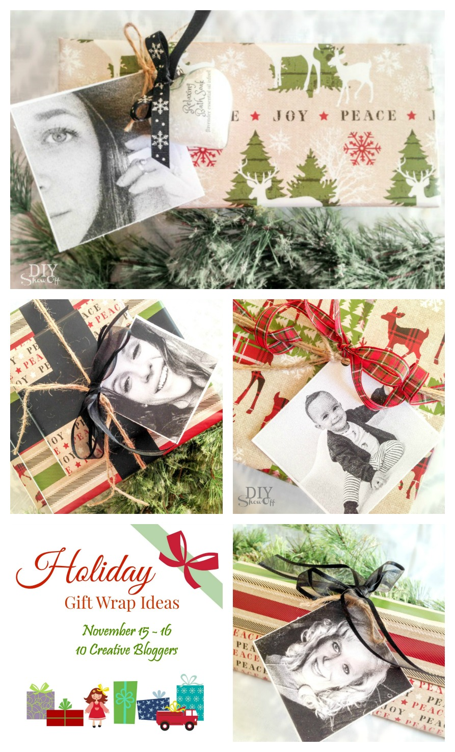Creative Holiday Gift Wrap Ideas by 10 bloggers @diyshowoff