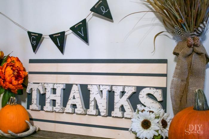 easy Thanksgiving sign tutorial @diyshowoff