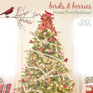 birds and berries christmas tree michaelsmakers diyshowoff dream tree challenge - Michaels Christmas Tree