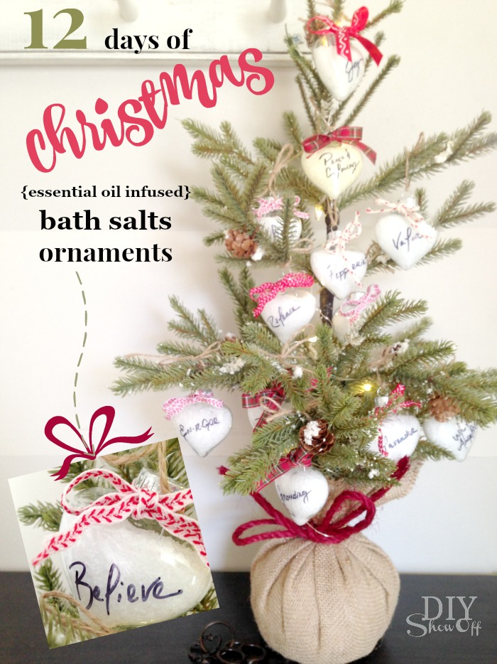 12 days of christmas essential oil infused bath soak ornament gifts