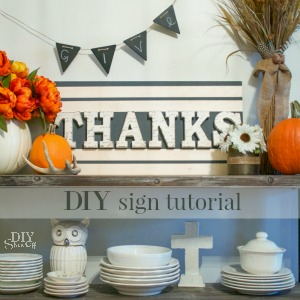 easy Thanksgiving sign tutorial @diyshowoff