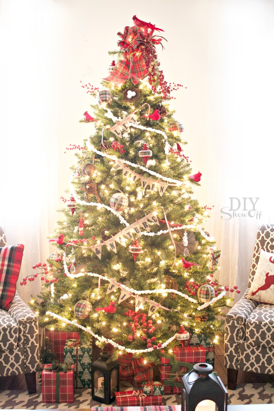 birds berries christmas tree michaels dream tree challengediy