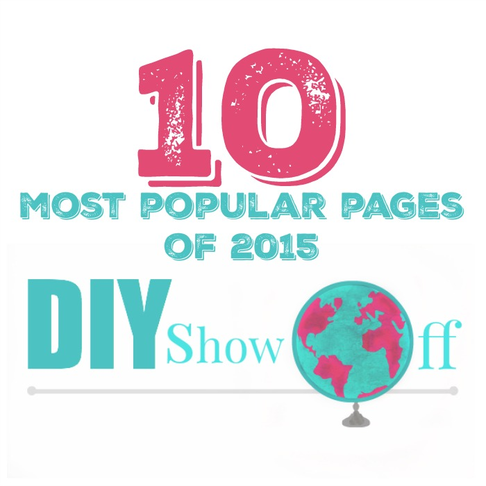 10 most visited pages of 2015 @diyshowoff