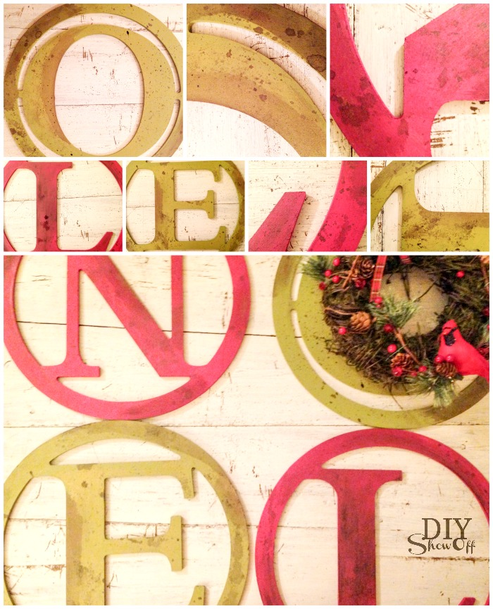 DIY NOEL Christmas wall art tutorial @diyshowoff
