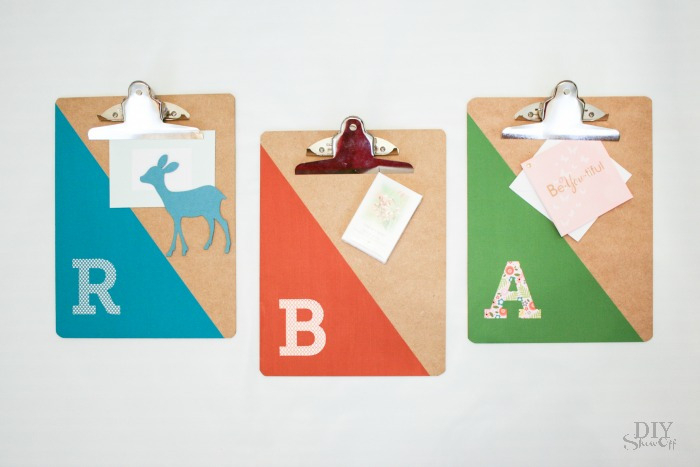 easy DIY clipboard gift idea @diyshowoff