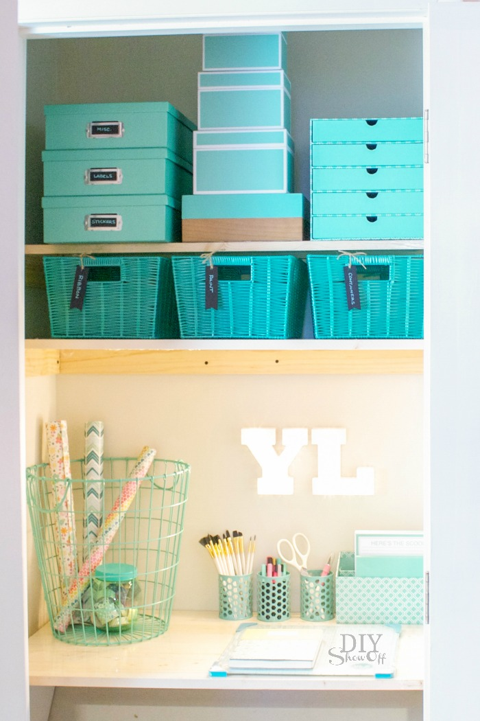 DIY Craft Organization Challenge Craft Closet #michaelsmakers @diyshowoff