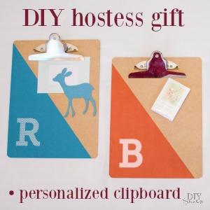 easy DIY clipboard gift idea @diyshowoff
