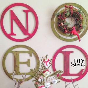 DIY NOEL Christmas wall art tutorial @diyshowoff
