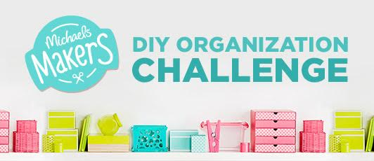 #michaelsmakers diy organization challenge