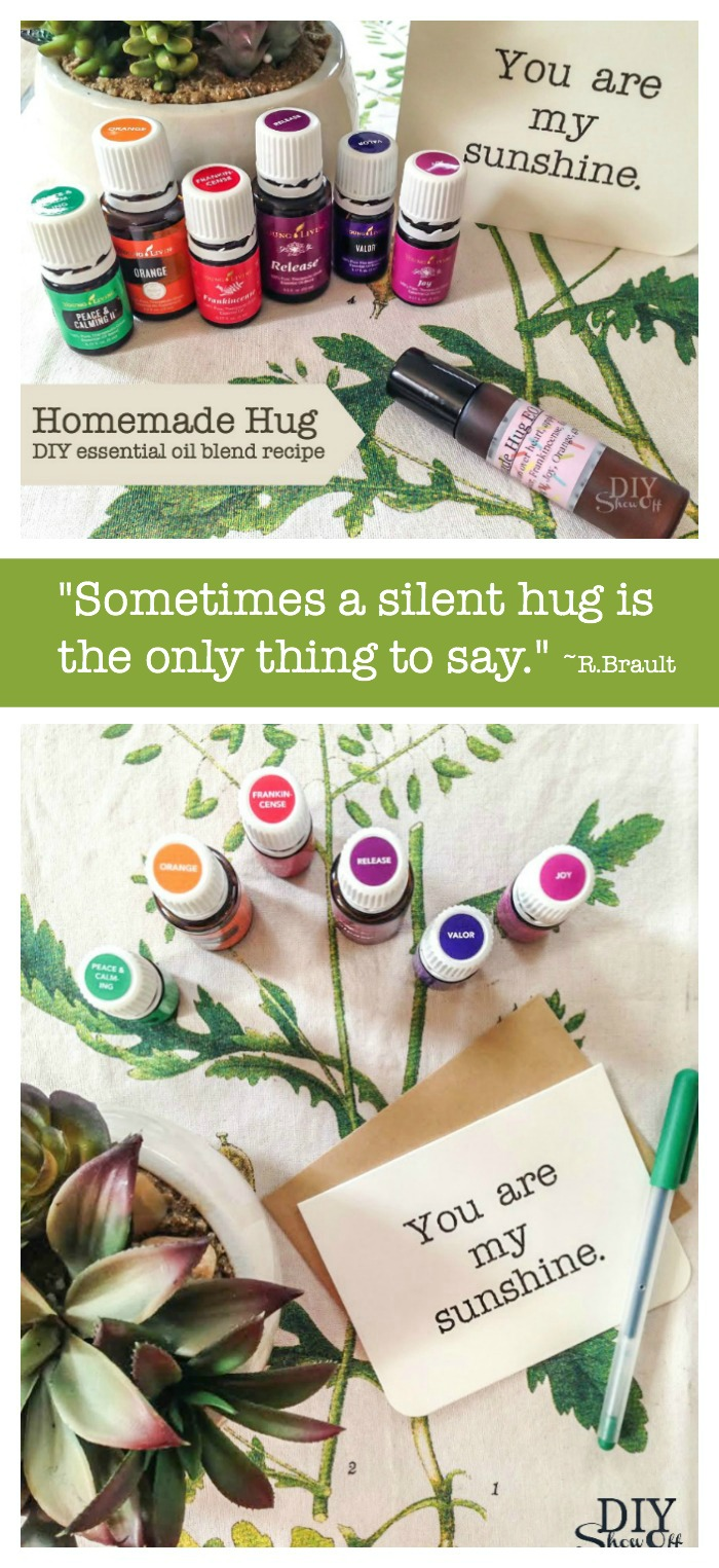 Need a hug? Make it essential oil-infused with this DIY homemade hug roll on recipe @diyshowoff. #feelbetter
