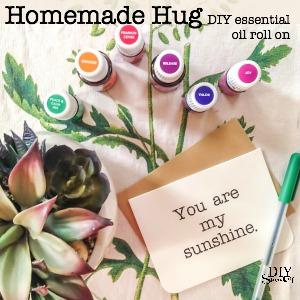 Need a hug? Make it essential oil-infused with this DIY homemade hug roll on recipe @diyshowoff. #feelbetter