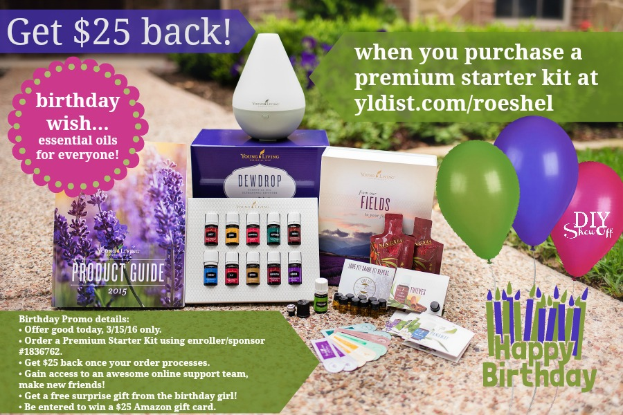Young Living essential oils birthday promotion @diyshowoff
