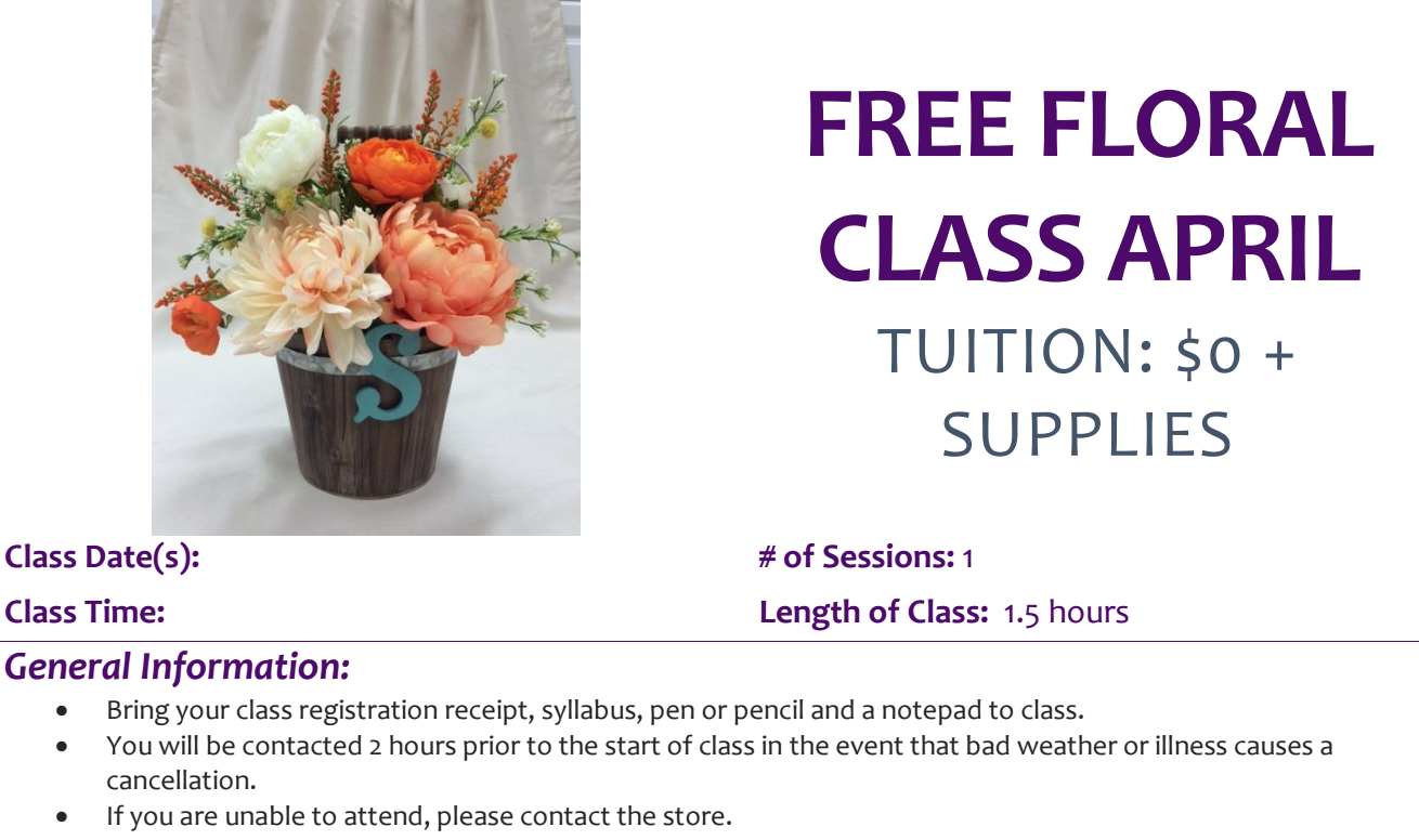 How fun! free craft classes at Michaels #michaelsmakers (DIY floral arranging)