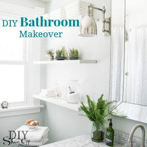 Epic DIYShowOff Bathroom Makeover before and after