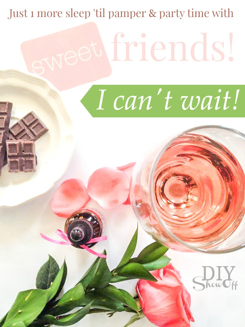 How fun! Get free graphics, tips and ideas for hosting an essential oils party with a chocolate & massage theme @diyshowoff