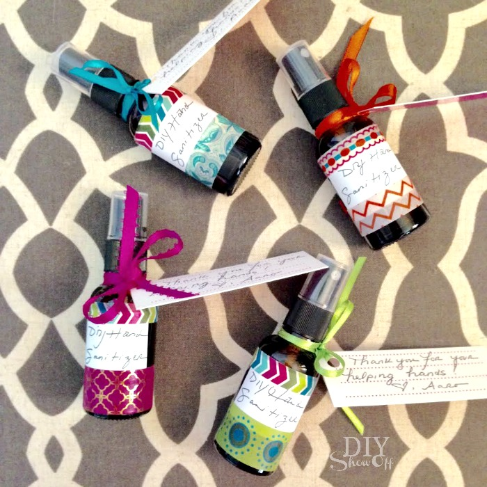 DIY essential oil infused hand sanitizer spray recipe @diyshowoff