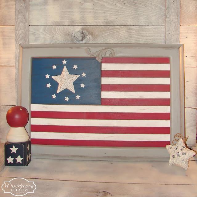 cabinet door flag