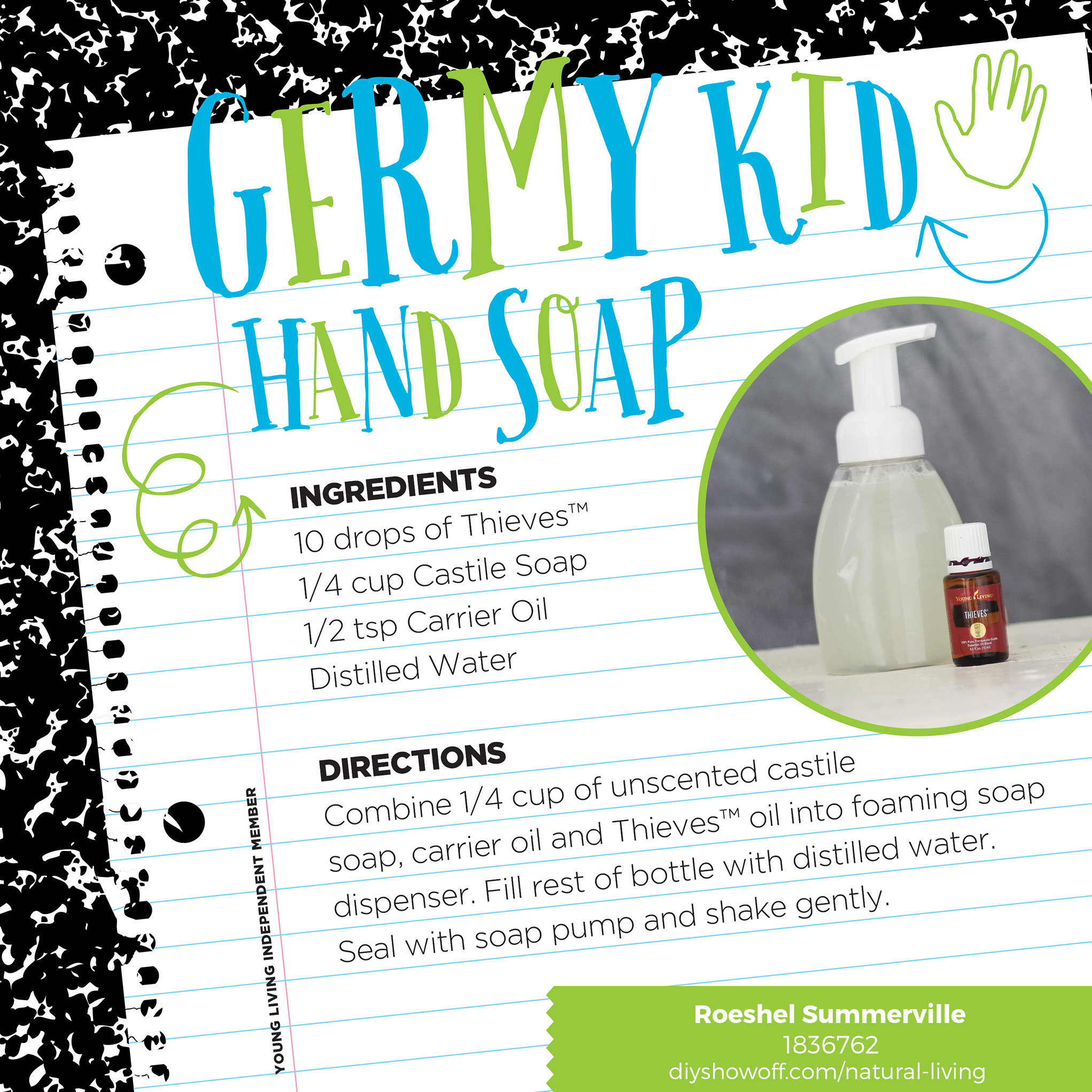 germy kid handsoap recipe