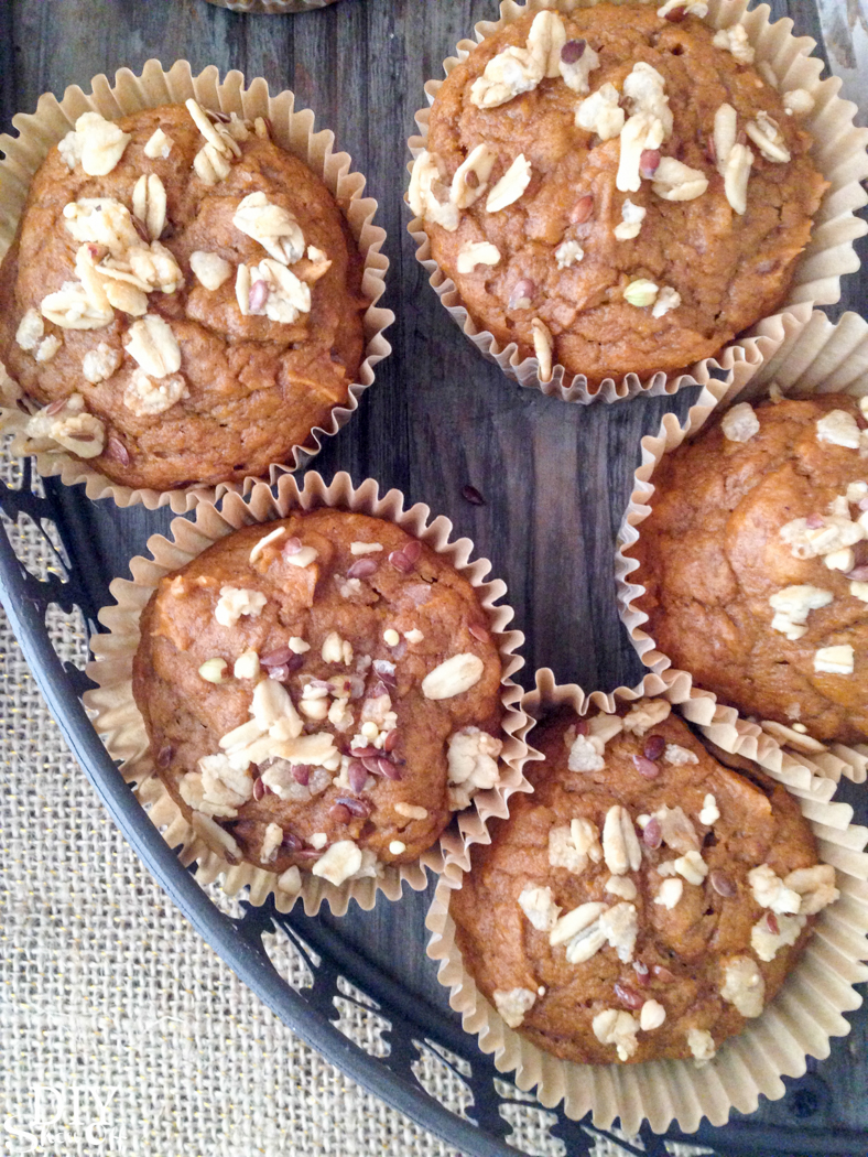 essential oil infused pumpkin muffins