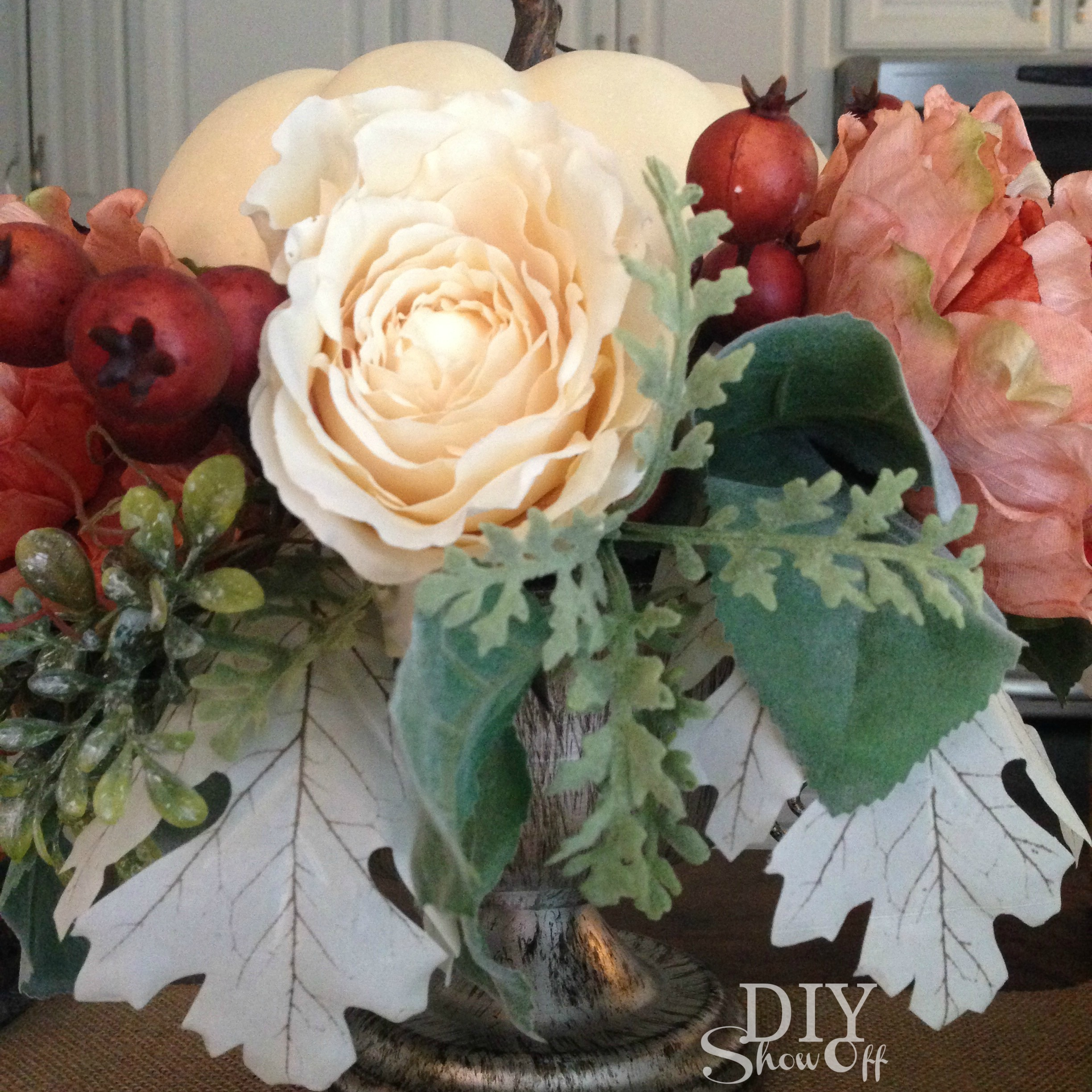 fall-floral-arrangement @diyshowoff