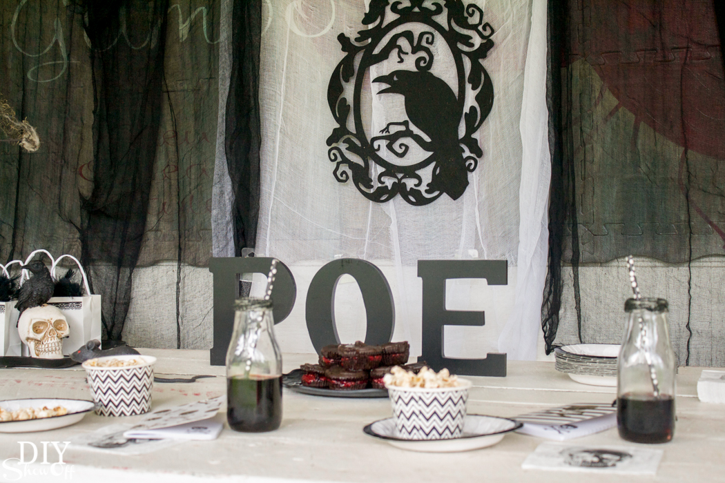 The Raven Nevermore Halloween Party Ideas @diyshowoff