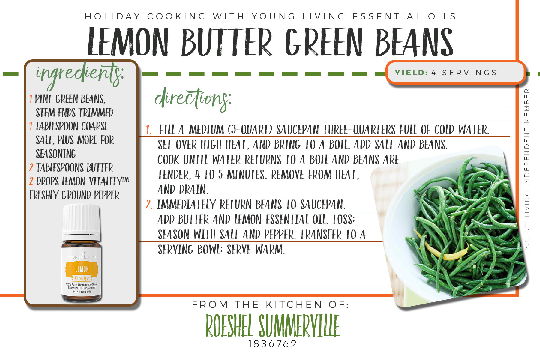 lemon butter green beans recipe