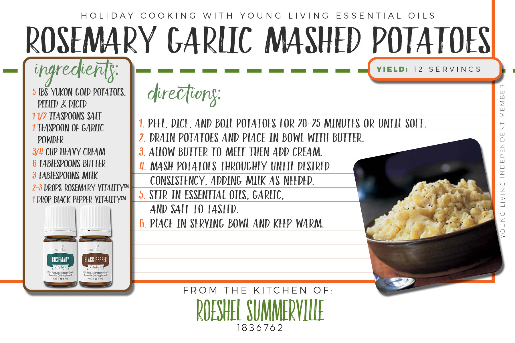 rosemary garlic mashed potatoes recipe