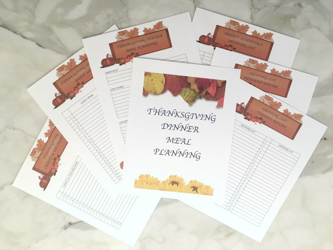 Thanksgiving dinner meal planner from Crafting a Family