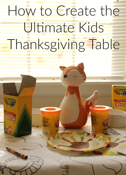 Thanksgiving kids table at the View from the Ville