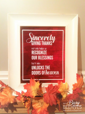 Thanksgiving printable at My Busy Beehives